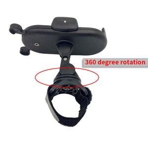 Image 4 - HX 360 Degree Rotate Baby Stroller Accessories Universal Holder Adjustable Mount Bracket Mobile Phone Stander Black White Pink