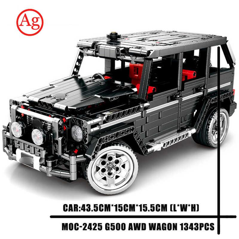 SEMBO blok zdalnie sterowany silnik Technic kompatybilny DIY SUV G500 konstruktor DIY radiowóz zestawy klocki do budowy 701960 zabawki MOC-2425