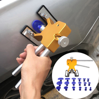 Безболезненный автомобильный инструмент для ремонта вмятин с 18 вкладками инструмент для ремонта вмятин инструмент для удаления вмятин для...