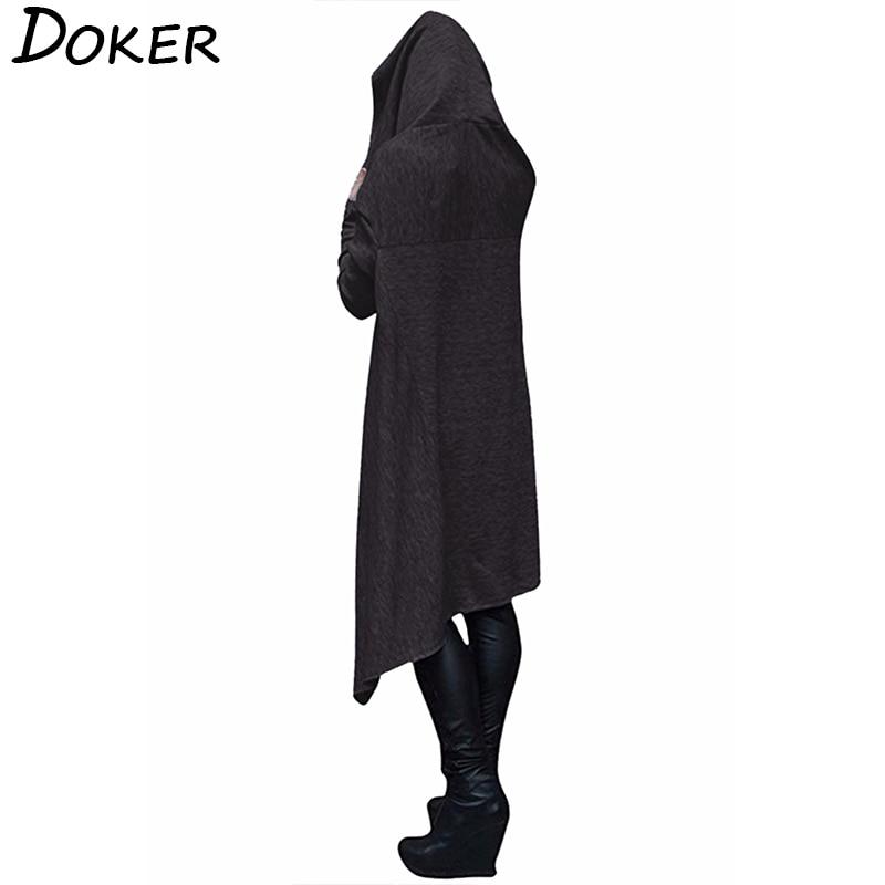 Autumn Winter Long Hoodies Sweatshirts Women Plus Size Loose Long Sleeve Hooded Sweatshirt Female Casual Pullover Hoodie 2