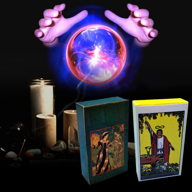 Tarot Cards Radiant Rider With Colorful Box Factory Made High Quality Smith Tarot Deck Board Game Cards Full English in Board Games from Sports Entertainment