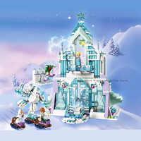 Princesa neve rainha gelo castelo neve figuras blocos de construção brinquedo 41148 legoinglys amigos cidade tijolos brinquedos para crianças