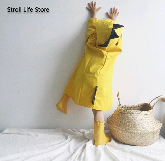 Creative Dinosaur Kids Raincoat Yellow Rain Jacket Poncho Rain Coat Children Red Windbreaker Waterproof Suit Capa De Chuva Gift 1