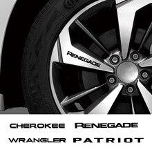 Autocollants de jantes de voiture en vinyle, 4 pièces, pour Jeep Renegade Patriot Wrangler Cherokee Compass TrailHawk, accessoires automobiles, décalcomanies de décoration