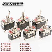 Alta-fim mini interruptor de alternância automático ac 250v 16a 2/3/4/6/12 pino on-off-off-on 2/3 posição prata contato com tampa impermeável
