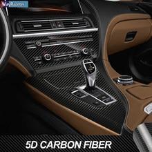 Anti scratch interior do carro guarnição película protetora 5d fibra de carbono vinil adesivo para bmw série 6 f06 f12 f13 2011-2017 acessórios