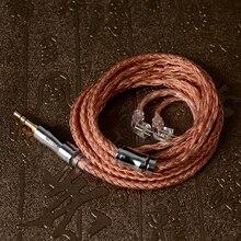 NICEHCK Cable de cobre de alta pureza NX7 Pro, 16 núcleos, enchufe de 3,5/2,5/4,4mm, 2 pines para NX7 MK3/DB3/TFZ/AUGLAMOUR Universal