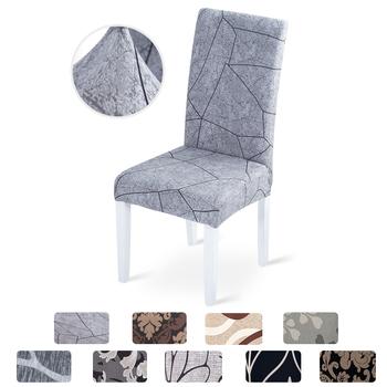 Elastyczny pokrowiec na krzesło z geometrycznym wzorem nowoczesna wymienna niebrudząca osłona krzeseł stretch do kuchni i na bankiet tanie i dobre opinie NoEnName_Null CN (pochodzenie) chair cover PRINTED Nowoczesne Fotel Ślub krzesło Hotel krzesło Plaża krzesło Bankiet krzesło