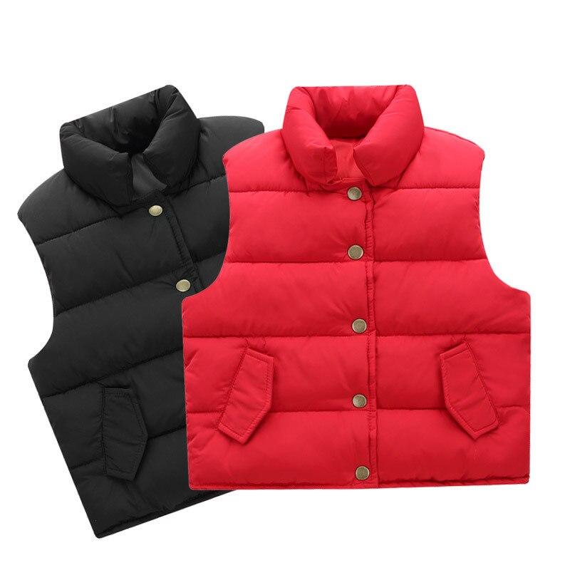 Enfants gilet garçons hiver chaud bébé fille gilet enfants automne sans manches doudoune gilets vêtements d'extérieur famille correspondant vêtements - 2