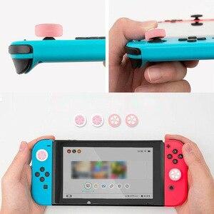 Image 5 - Capa de controle para nintendo switch, capa de proteção fofa para joystick de polegar e para controles de nintendo switch lite ns joycon