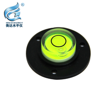 34*11mm Bulls-eye Bubble Degree Marked Surface Spirit Level For Camera Circular round bubble level