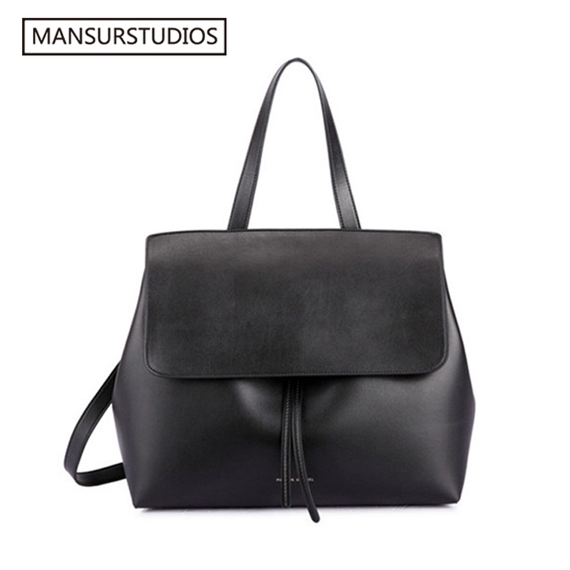 MANSURSTUDIOS Classics Shouder Bag ,Mansur Women Leather Lady Bag ,  Gavriel Ladies Real Leather Handbag,Tote Bag For Girl