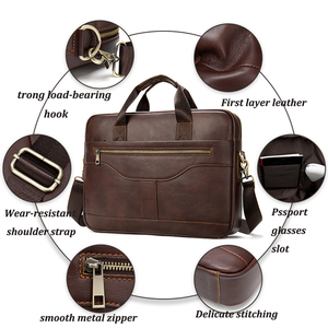 Image 3 - WESTAL messenger bag men briefcase/mens genuine leather laptop bags office bags for men bussiness design bag men leather tote