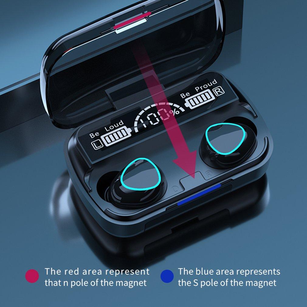 Bluetooth5.1 caixa de carregamento fone de ouvido