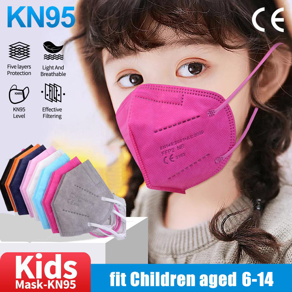 Children's Mask FFP2 Kids KN95 Mask Protective Dustproof Breathable CE Reusable Boys Girls Fit 6-14 Years Mascarillas Face Mask