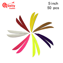 JINYUQI Parabolic Turkey Feather 50pcs 5 Water Drop Cut Arrow Fletching Hunting  Diy Accessories