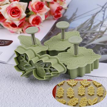 4 sztuk zestaw 4 rodzaje kształt liścia plastikowe foremki do ciastek zestaw ciasto foremki do ciasteczek i herbatników trzpień sprężynowy kuchenne narzędzia do pieczenia tanie i dobre opinie Formy CN (pochodzenie) Ekologiczne Z tworzywa sztucznego Cake mold Food Grade Plastic