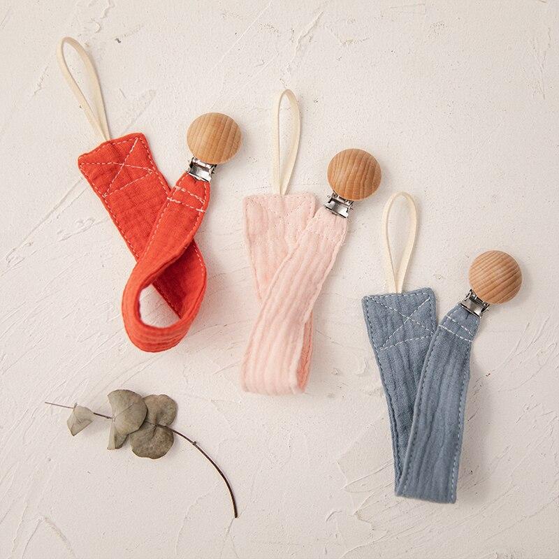 1 шт. Детская Соска-пустышка детская пустышка на цепочке однотонные Цвет хлопчатобумажной ткани плюшевые игрушки пустышки для младенцев, де...