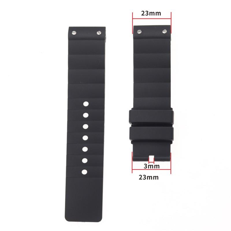 Watch accessories Applicable for Cartier Santos rubber bracelet 23mm W20121U2 Santos series waterproof silicone watch band Men