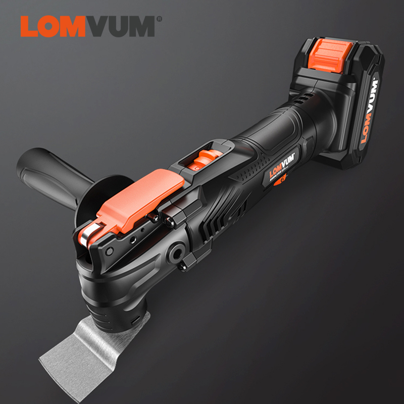 LOMVUM Electric Multitool Multifunction Oscillating Renovator Li-ion 21V Tool Electric Trimmer Saw With Accessories Woodworking