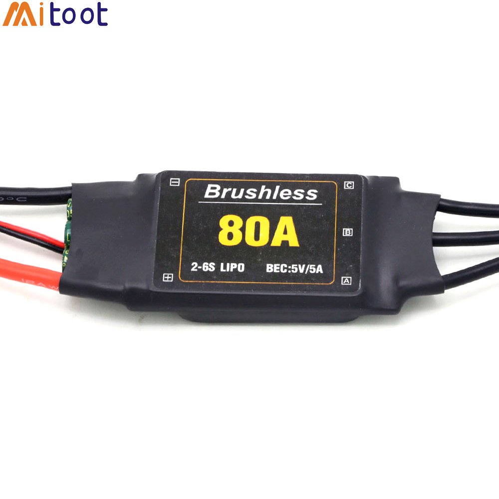 Mitoot Brushless 80A ESC Speed Controler 2-6S With 5V 5A UBEC For RC FPV Quadcopter RC Airplanes Helicopter