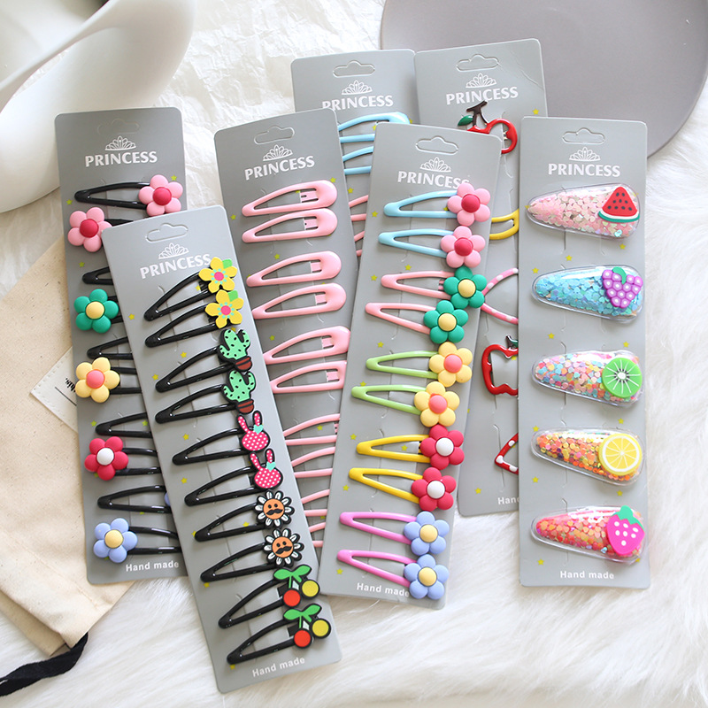 1 Set Cute Princess Fruit Hairpins Children Kids Hair Clips Pins Barrette Accessories For Women Girl Hairgrip Headwear Hairclip