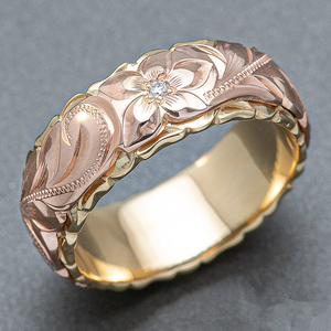 Huitan Women Wedding Bands Jewelry Carved Flower Shape Female Finger Rings Mosaic CZ Stone Fashion Valentines Gift Ring for Love