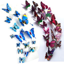 Colorful 3D Butterfly Wall Sticker On The Wall Home Decor Butterflies for decoration Magnet Fridge stickers Kids Bedroom Decor