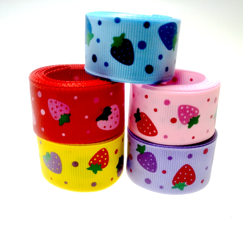 NEW DIY 1 5 Yards 1/'/' 25mm Little bee Printed Grosgrain Ribbon Hair Bow Sewing