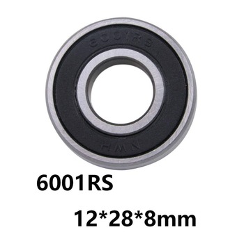 10Pcs/lot 6001Rs Cover Seal Deep Groove Ball Miniature Mini Bearings 6001Rs 6001-Rs 12*28*8Mm 12*28*8 52100 Chrome Steel image