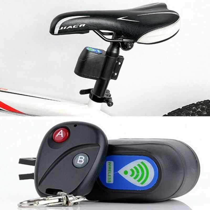 Sepeda Wireless Remote Control Anti-Theft Alarm, Shock Vibration Sensor Sepeda Sepeda Keamanan Alertor Bersepeda Kunci