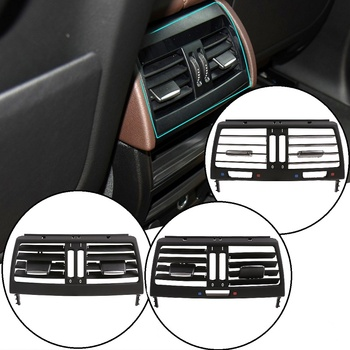 ABS Black Rear Air Conditioning Exhaust Grille Air Conditioning Outlet Auto Interior Accessories For BMW E70 E71 X5 X6 2008-2013 image