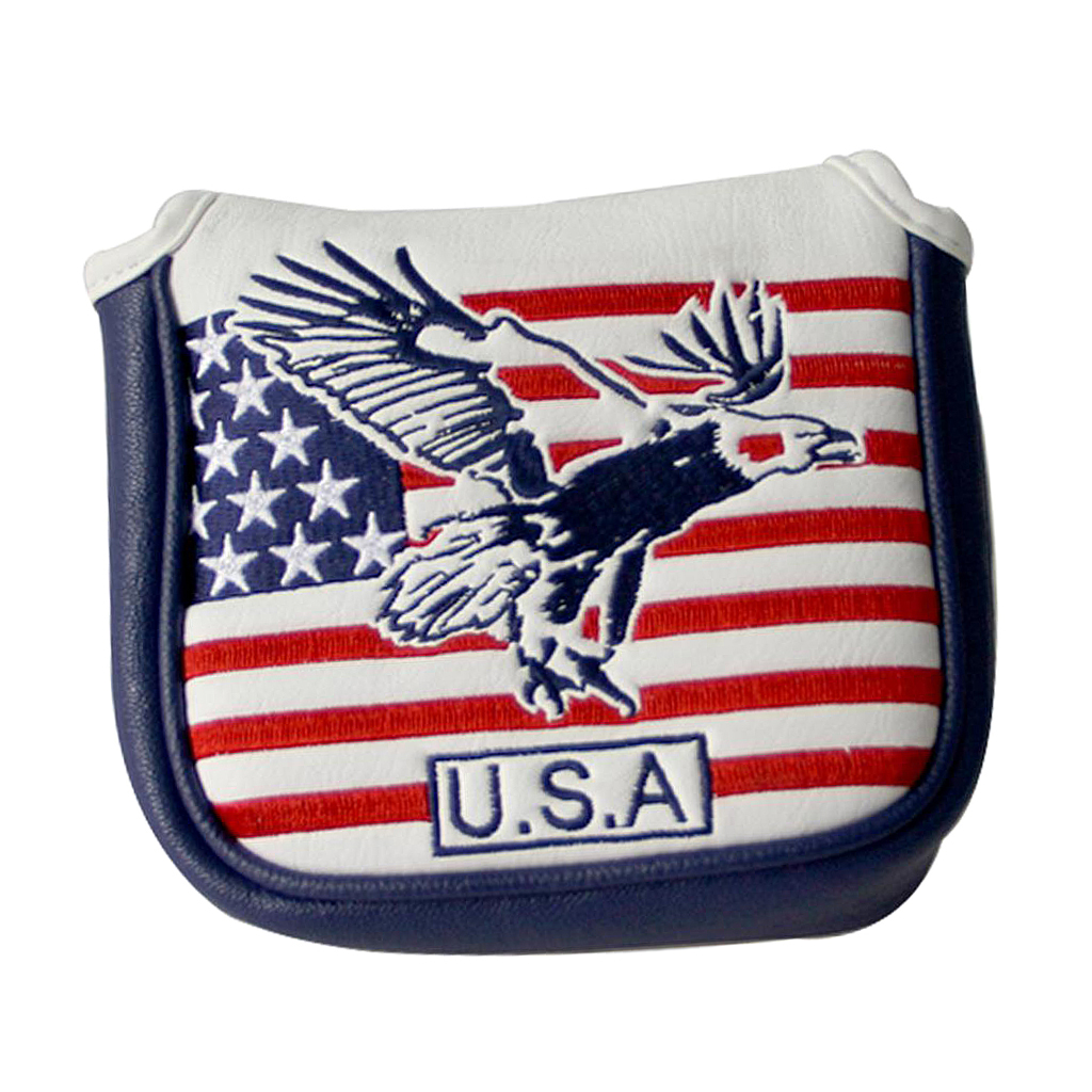 Golf Putter Cover | Great Golf Gift & Golf Bag Accessory | American USA Flag Pattern