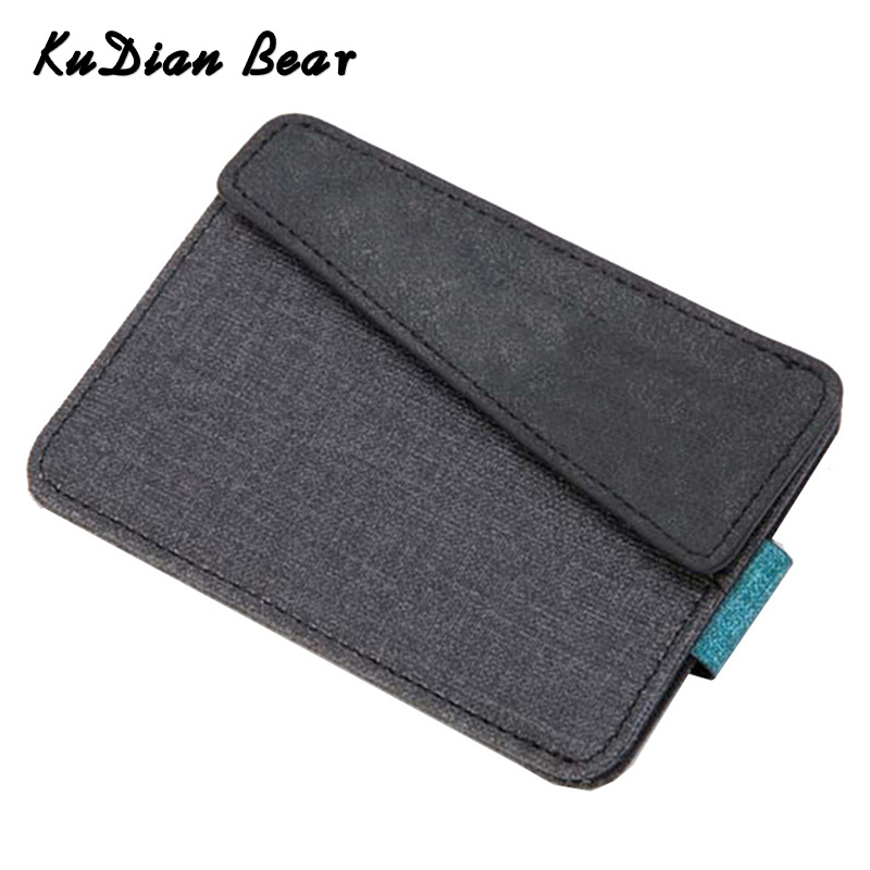 KUDIAN BEAR Minimalist Credit Card Holder Thin Wallet Purse Men Women Bus Card Case Organizer Coin Pocket Tarjetero BID144 PM49