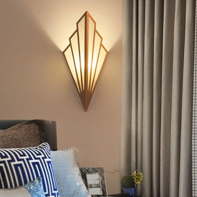 LukLoy LED Wall Lamp Corridor Aisle European Lamp Bedroom Bedside Wall Sconce Living Room Modern Lighting Golden Light Fixtures