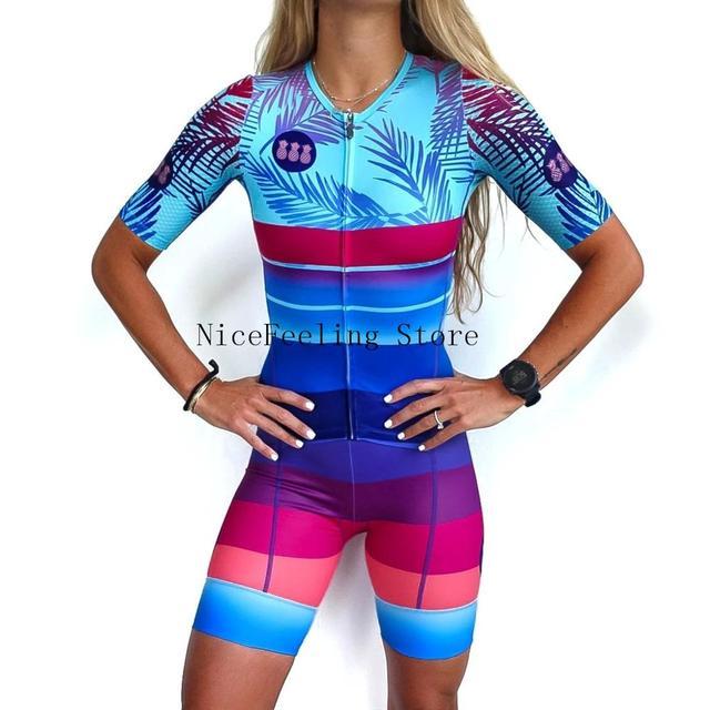 2020 mulher triathlon ciclismo skinsuit verão manga curta roupa de banho personalizado bicicleta onesies triathlon terno cor brilhante macacão 1