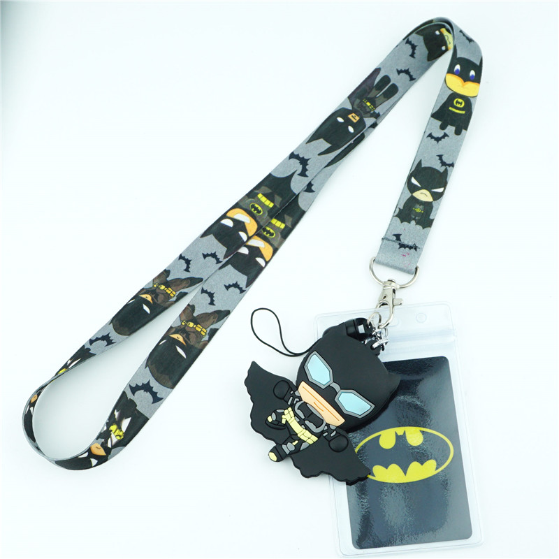 Batman Series Neck Strap Lanyards For Keys ID Card Gym Mobile Phone Strap USB Badge Holder Rope Pendant Cosplay Key Chain Gift