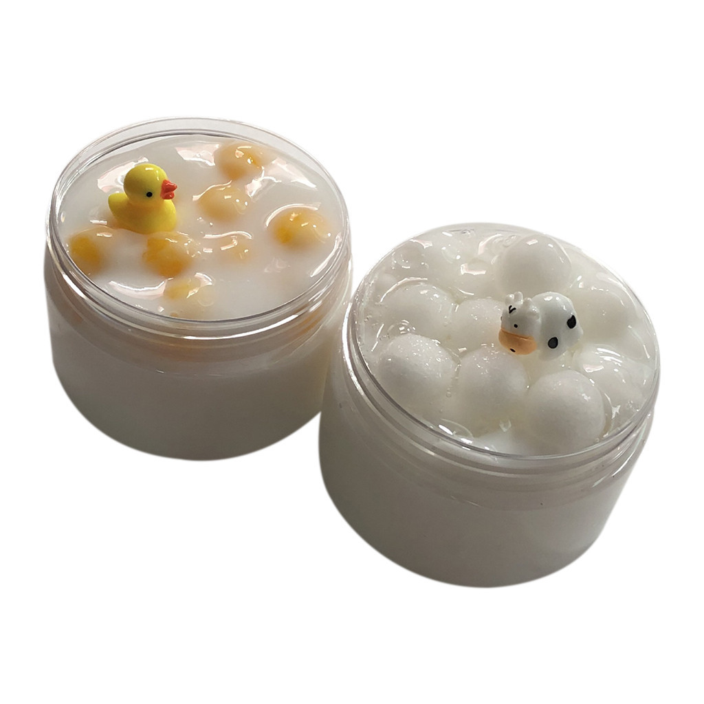 Milk Cow Duck Puff Cloud Slime Anti Stress Kids Clay Toys Charms Gum Polymer Clay Antistress Children Funny Gadgets #B