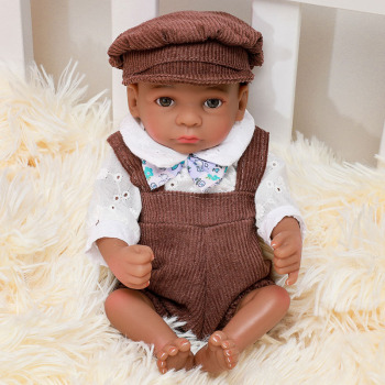 30 cm Doll Reborn Toddler Baby  Very Soft Full Body Silicone Rebirth  Baby Doll Realistic Lifelike Children Surprise Presents 55cm full silicone body rebirth crooked mouth doll simulation rebirth toddle baby doll toys children birthday presents