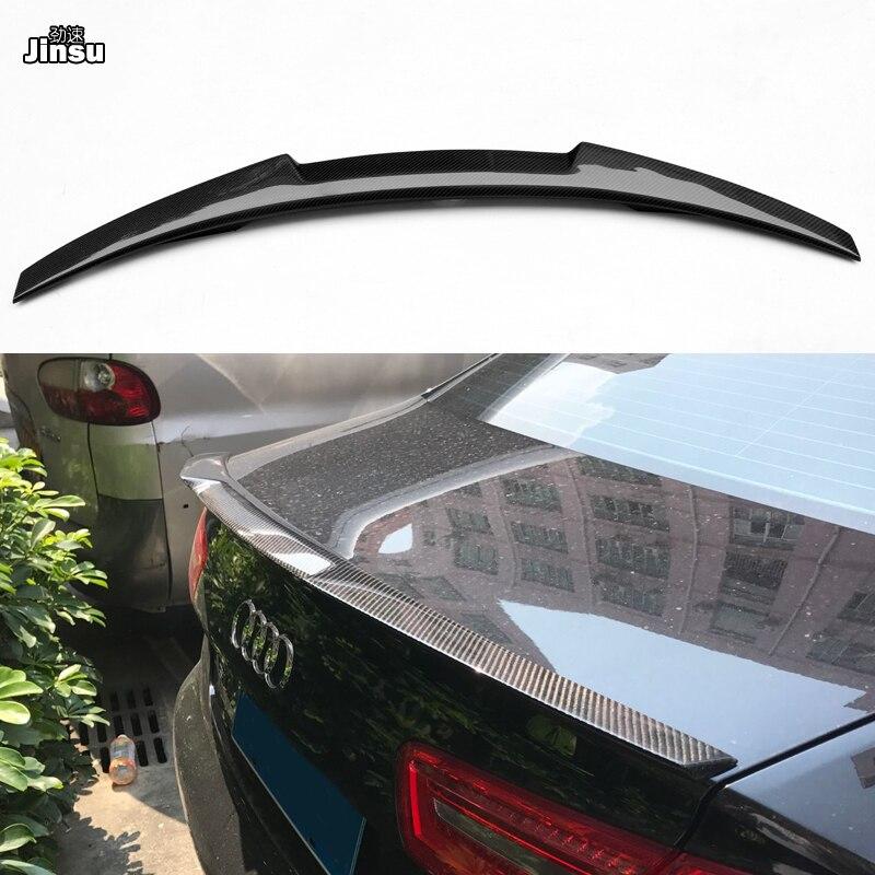 A6 C7 M4 style carbon fiber rear spoiler for Audi A6 C7 2012-2018 4-door sedan
