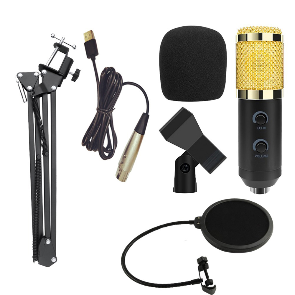 New <font><b>BM900</b></font> Professional ABS Capacitive <font><b>Microphone</b></font> withj Anti-Spray Net High Quality Wired Mic Kits for Studio Stages TV Stations image