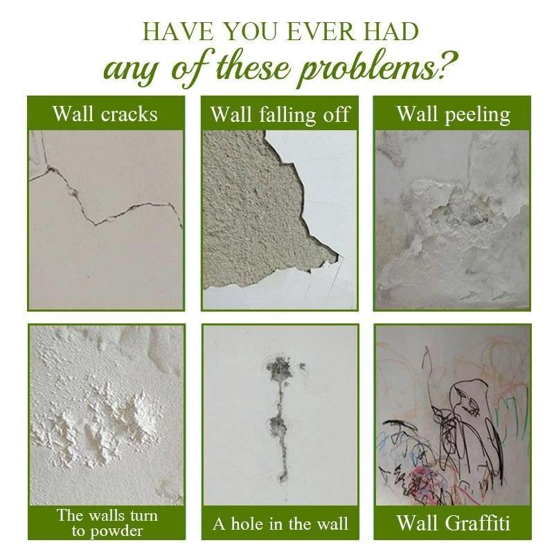 ผนัง Mending 100ml ผนัง Mending Agent Wall Repair ครีม Latex สีกันน้ำผนังยิปซั่มสีที่ถูกต้อง Mouldproof