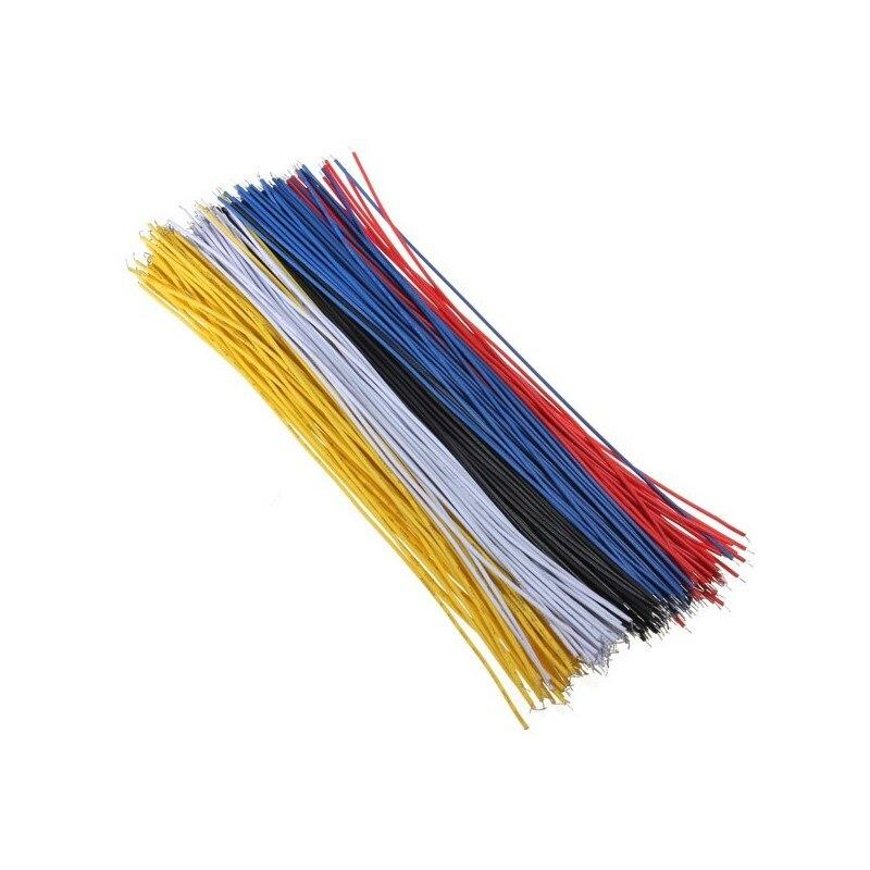 100 шт. 26AWG Оловянная макетная плата кабель для пайки ПП 20 см Fly Перемычка провода кабель оловянные проводящие провода 1007-26AWG разъем провода