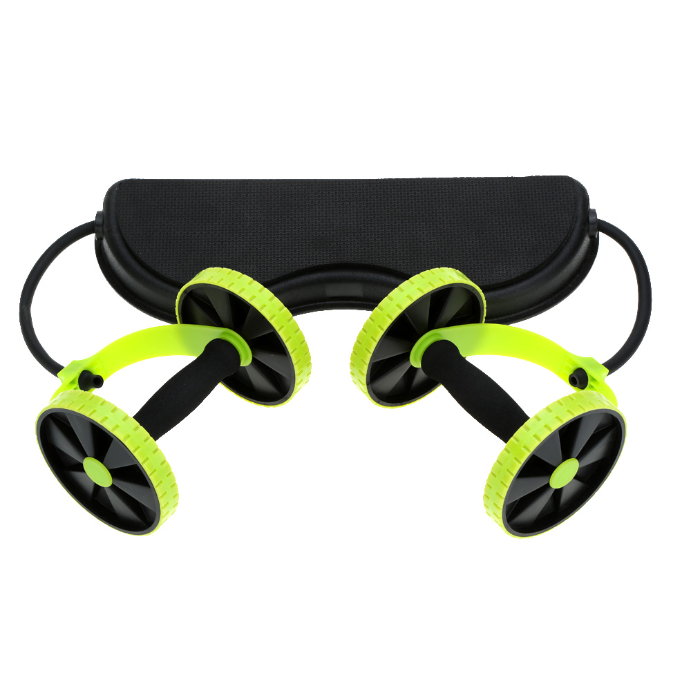 Sports Core Double AB Roller AB Wheel Fitness Abdominal Exercises Equipment Waist Slimming Lose weight Muscle Training Gym Home image