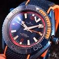 Luxus Marke Neue Männer Automatische Mechanische GMT Wasserdicht Blau Rot Schwarz Keramik Edelstahl Sapphire Leinwand Leder Uhren