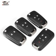 Dandkey 20x Flip Folding Remote Key Shell Für Chevrolet Cruze Lova Sail Aveo Schlüssel Mit HU100 Klinge 2/3/4/5 Tasten
