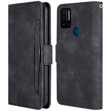 Card Case For Umidigi A7 Pro Cases Retro PU Leather and TPU Wallet Multi-card Slots Magnetic Shell Flip Stand Protective Cover