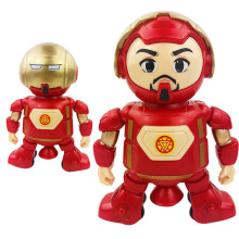 Marvel New Hot Avengers Toys Dancing Iron Man Robot with Music Flashlight Tony Stark Electric Action Figure Toy for Kids Gi B653 stark music