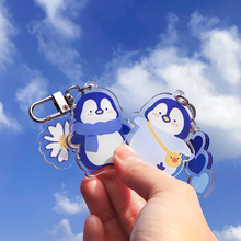 Cute Penguin Acrylic Keychain Creative Net Red Ins Pendant Backpack Pendant Car Jewelry Gift