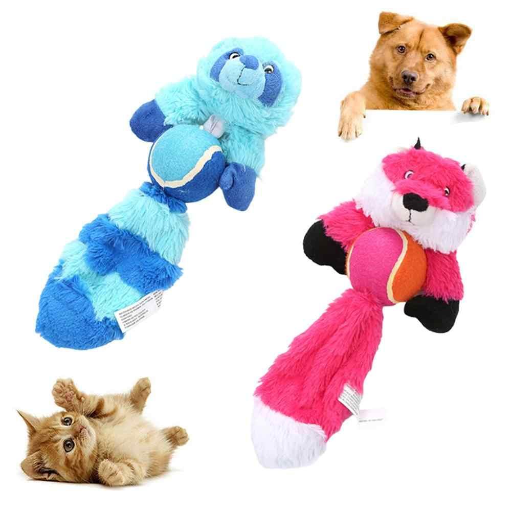 Pet Dog Gatti Cucciolo di Volpe Palla Forma di Orso Peluche Bambola Squeaky Chew Gioca Giocattolo Molare
